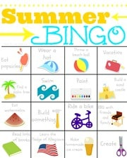 Vacation Bingo