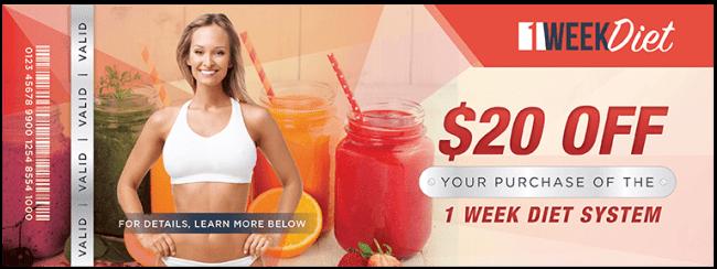 1 week diet coupon
