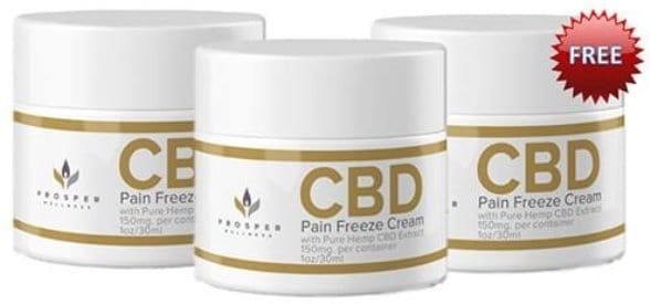Prosper CBD Pain Freeze Cream – Try It for FREE!